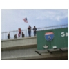47 Supporters on Overpass I-5